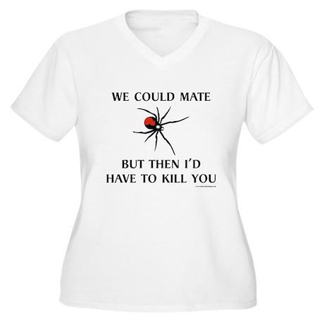 Black Widow Women's Plus Size V-Neck T-Shirt