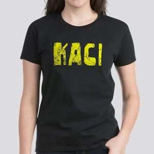 Kaci Faded (Gold) Women's Dark T-Shirt