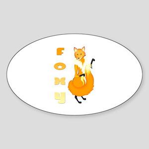 Foxy Oval Sticker