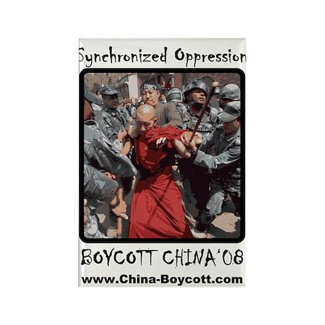 Boycott Bejing 2008 Rectangle Magnet (10 pack)