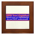 Repeal Taxes#1 Framed Tile
