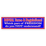 Repeal Taxes#1 Bumper Sticker (10 pk)