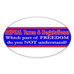Repeal Taxes#1 Oval Sticker
