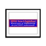 Repeal Taxes#1 Framed Panel Print