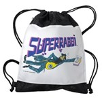 Superrabbi White Drawstring Bag