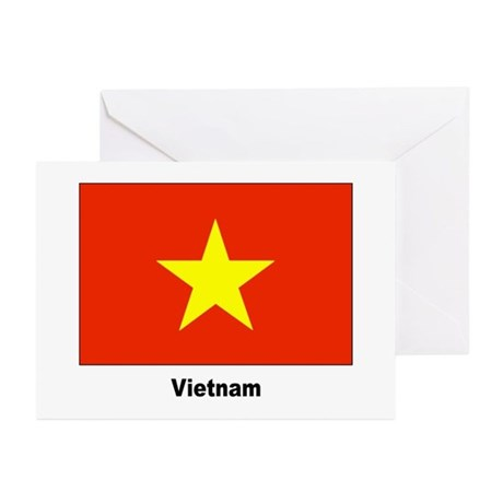 Vietnam Flag Greeting Cards (Pk of 10)