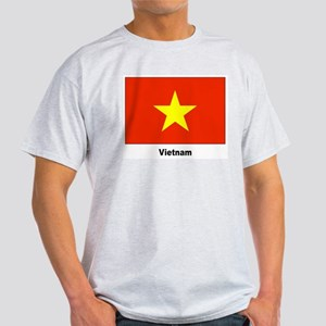 Vietnam Flag (Front) Ash Grey T-Shirt