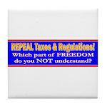 Repeal Taxes#2 Tile Coaster