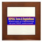 Repeal Taxes#2 Framed Tile
