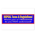 Repeal Taxes#2 Postcards (Package of 8)