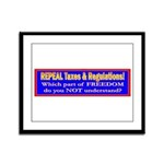 Repeal Taxes#2 Framed Panel Print