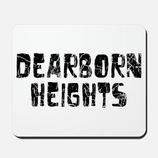 Dearborn Hei.. Faded (Black) Mousepad