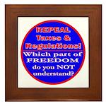 Repeal Taxes#1c Framed Tile