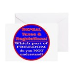 Repeal Taxes#1c Greeting Card
