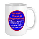 Repeal Taxes#1c Large Mug