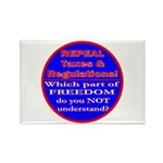 Repeal Taxes#1c Rectangle Magnet (100 pack)