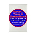Repeal Taxes#1c Rectangle Magnet (10 pack)