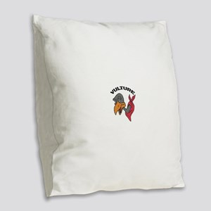 Vulture Burlap Throw Pillow