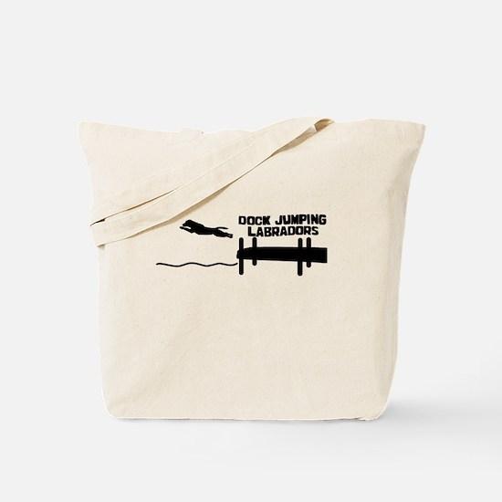 Lab Dock Jumping Tote Bag