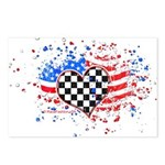 USA Flag Racing Postcards (Package of 8)