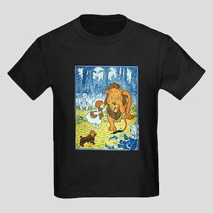 Cowardly Lion Kids Dark T-Shirt