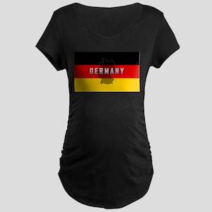 Germany Flag Extra Maternity Dark T-Shirt