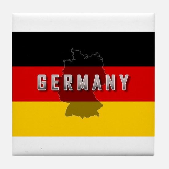 Germany Flag Extra Tile Coaster