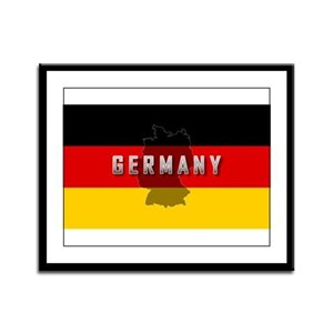 Germany Flag Extra Framed Panel Print