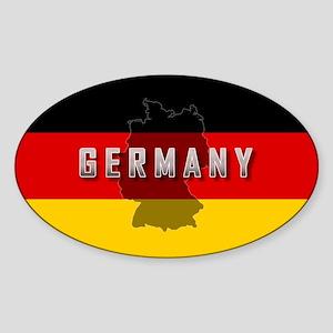 Germany Flag Extra Oval Sticker