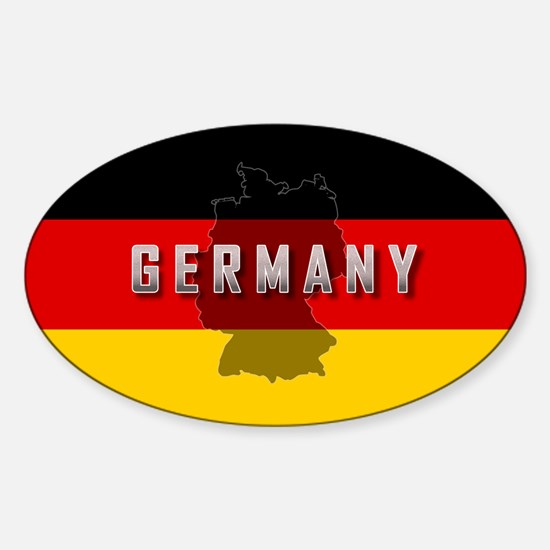 Germany Flag Extra Oval Decal