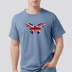 Great Britain Butterfly Flag T-Shirt