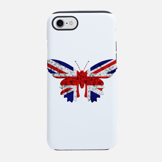 great britain butterfly flag iPhone 8/7 Tough Case