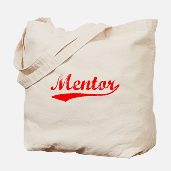 Vintage Mentor (Red) Tote Bag