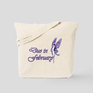 Due February Purple W Fairy Tote Bag