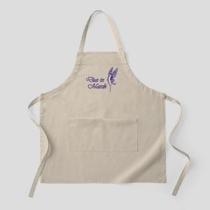 Due March Purple W Fairy BBQ Apron