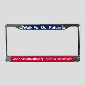 Walk For Our Future License Plate Frame