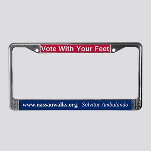 Vote With Your Feet License Plate Frame