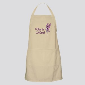 Due March Pink W Fairy BBQ Apron