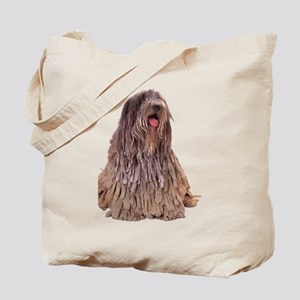 Bergamasco Sheepdog Sitting Tote Bag