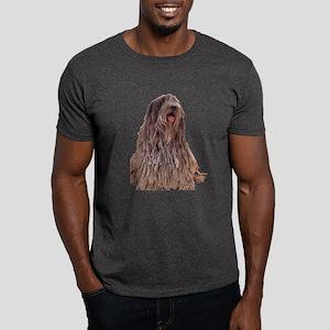Bergamasco Sheepdog Sitting Dark T-Shirt