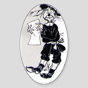 Scarecrow Oval Sticker