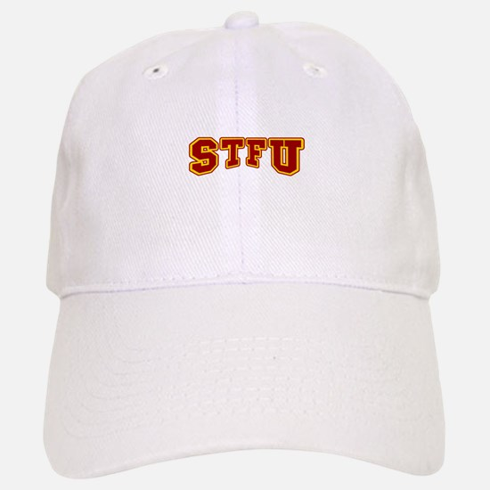 STFU Funny Fake University Baseball Baseball Cap