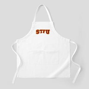 STFU Funny Fake University BBQ Apron