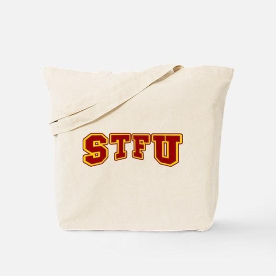 STFU Funny Fake University Tote Bag