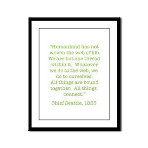 Nature Quotes 1 Framed Panel Print