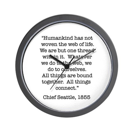 Nature Quotes 1 Wall Clock