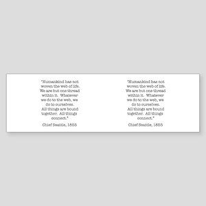 Nature Quotes 1 Bumper Sticker