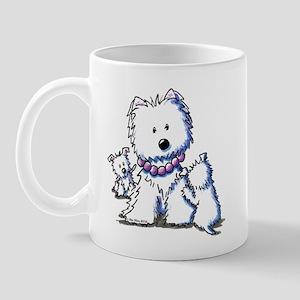 Westie Mom In Pearls Mug
