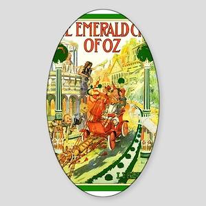 Emerald Oval Sticker