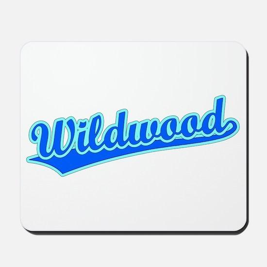 Retro Wildwood (Blue) Mousepad